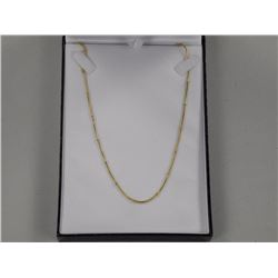 """18-20"""" Snake Chain 18kt GP/Stainless Steel."""