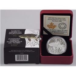 2015 - $20 Northern Pike .9999 Fine Silver.