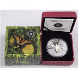 $20 - 2013 Canada - Butterflies of Canada - Tiger Swallowtail .9999 Fine Silver.