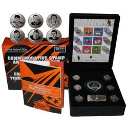 NHL All-Stars - Commemorative Stamp and Medallion Set. Limited Edition.