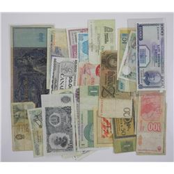 Lot Approximate (25) World Bank Notes.