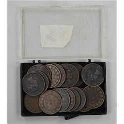 21x Canada Large 1 Cent Mixed 1800s & 1900.