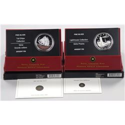 2x RCM Fine Silver Coins 'Lighthouse Collection To