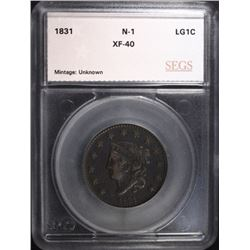 1831 LARGE CENT N-1 SEGS XF