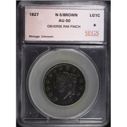 1827 LARGE CENT N-5 BN SEGS AU
