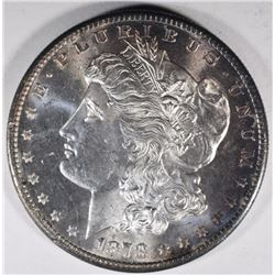 1878-S MORGAN DOLLAR, GEM BU+