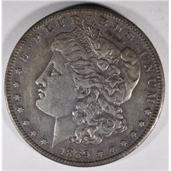 1889-S MORGAN DOLLAR, XF/AU