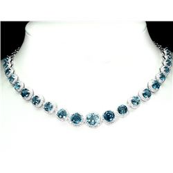 Natural London Blue Topaz 141 Carats Necklace