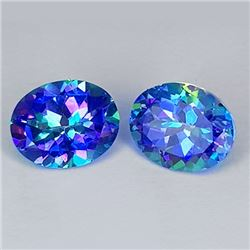 Natural Blue Mystic Topaz Pair 10x8 MM - FL