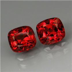Natural Red Spinel Pair 7 x 5.5 MM - Untreated