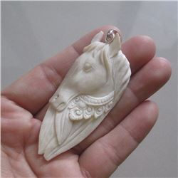 Hand Carved Horse Pendant