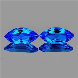 Natural Swiss Blue Topaz Pair 12 x 6 MM - FL