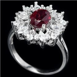 Genuine Vivid Red Ruby Ring