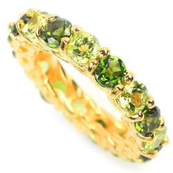 NATURAL GREEN CHROME DIOPSIDE & PERIDOT RING