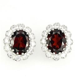 Natural Mozambique Garnet Earrings