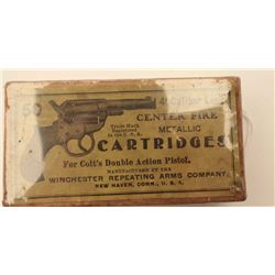 "18BJ-6 FULL BOX .41 CALDesirable full ""picture"" box (picture of Colt  Model 1877 Thunderer DA revolv"