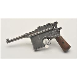 17MH-9 MAUSER C96 #611184Banner Mauser C96 semi-automatic pistol,  7.63mm caliber, military finish,