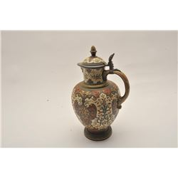 EVE-13 VILLORY AND BACH (METLACH) PITCHERVillory and Bach (Metlach) signed wine  pitcher showing Mul