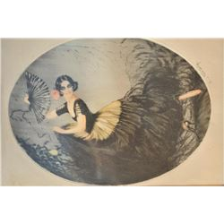 EVE-25 SIGNED PRINTSigned print by S. Fouseca of Spanish dancer  dated 1923 by L. Estampe Modernes (