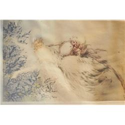 EVE-22 HAND SIGNED ICART PRINTHand signed original Louis Icart print #300  in pencil. Printer marked