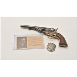 "18AF-1 COLT 62 #1922Colt Model 1862 Police conversion revolver,  .36 caliber, 5.5"" barrel, blued and"