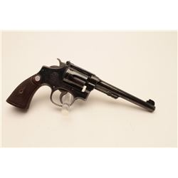 18BL-1 S& W #13470Smith and Wesson Outdoorsman revolver, .22  Long Rifle caliber,  #669609.  The