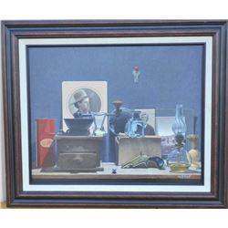 "EVE-34 ORIGINAL OILOriginal oil signed lower right ""Van Etten"".  Measures approximately 15 ½"" x 19 ½"