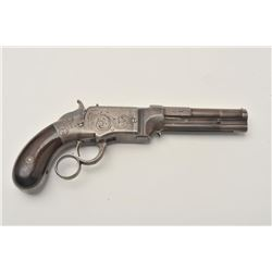 18AL-59 VOLCANIC CASEDVery rare Rosewood cased Smith & Wesson  engraved iron frame Volcanic lever ac