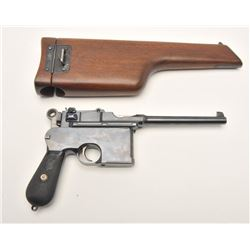 17FS-343 MAUSER BROOM HANDLE W/HOLSTER #25706German Broomhandle Mauser semi-automatic  pistol, with