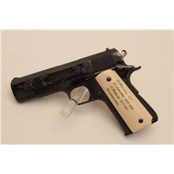18BM-20 COLT COMBAT COMMANDERUltra rare Colt Custom Shop Government Model  Engraving Sampler, .38 Su