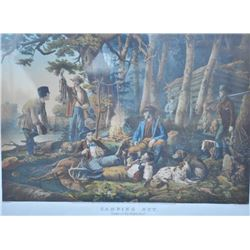 EVE-28 CURRIER & IVES PRINTFramed to match last lot and in same series.  Currier and Ives 1856 dated