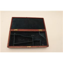 18AL-78 ARMY BOXWood presentation partition case for a Model  1860 Army percussion revolver, overall