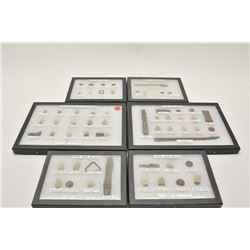 18AL-85 FRAMED C.W. RELIC COLLECTIONExtensive lifetime collection of American  Civil War dug up reli