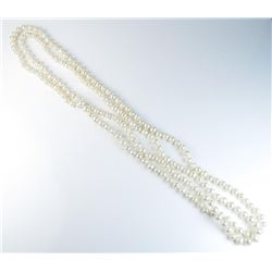 18CAI-57 PEARLSNice strand of cultured pearls averaging 6.00  MM in diameter of rose pink tones and