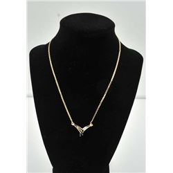 18PRS-12 SAPPHIRE & DIAMOND NECKLACEOne beautiful 3 marquee sapphire and diamond  necklace in 14k ye