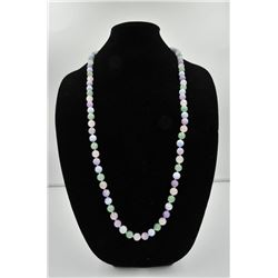 18PRS-6 JADE BEADSOne rare collection of entire color spectrum  of   Jade beads  10.5mm diameter in