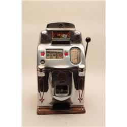 """18AL-33 JENNINGS SLOTJennings Chief Model antique 5 cent slot  machine, approximately 28"""" in height"""