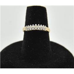18RPS-30 DIAMOND RINGOne 14k  diamond pyramid ring set with 18  diamonds weighing 0.15ct EST:$250-50