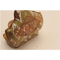 EVE-111 SEVRES COVERED BOXFancy shaped and fine quality ornately  painted sevres covered box from ea