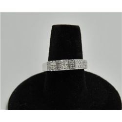 18RPS-36 DIAMOND RINGOne designer ring with 54 pave set diamonds  weighing 1aprox. 0.69ct made in 14