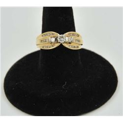 18RPS-34 DIAMOND RINGOne uniquely designed ring set with 26  diamonds weighing approx 0.65ct in 14k