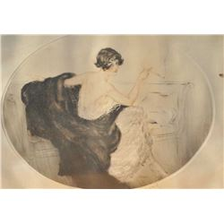 EVE-23 HAND SIGNED ICART PRINTHand signed original Louis Icart print.  Copyright 1924 Les Engraveurs