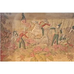 "EVE-40 FRAMED PAINTINGFramed painting and print on fabric entitled  ""Battle of Buena Vista, 1847"". M"