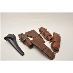 18AP-95 HOLSTER LOTBonanza lot of Western leather of varying  age, approximately 26 holsters, 6 hols