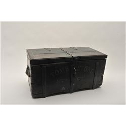 18AP-74 REPRO MONEY BOXWell-made 20-30 year old reproduction wood  and iron money box, approximately