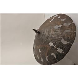 EVE-55 BRONZERare cast bronze shield possibly Luristan and  300-600 B.C. Measures approximately 30""