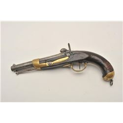 18AP-4 FRENCH MILITARY PERC.French Military percussion pistol,  approximately .72 caliber.  The pist