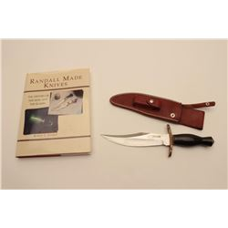 18CD-2 RANDALL BOWIEUnusual Randal Bowie with clip point and  radical shaping. Numbered 128 on the r