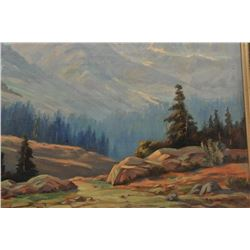 18AK-1 ORIGINAL OIL BY L.R. NEVADA WILSONOriginal oil on canvas of High Sierras signed  lower right