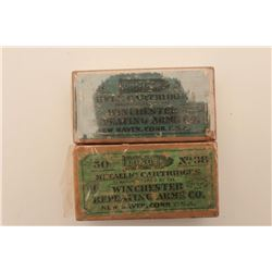 18AL-9 2 BOXES .38 LONG RIMLot of 2 boxes of antique collectible ammo,  both by Winchester Repeating
